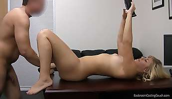 Curvy amateur in the casting office for a good fucking
