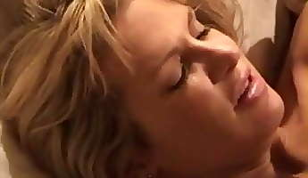 Blonde white wife with black lover  Interracial Cuckold Homemade