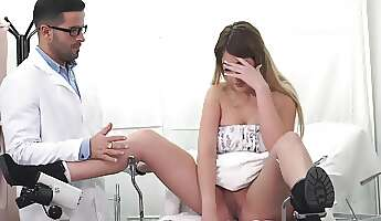 Milf gets fucked in a really kinky mode by the horny doc