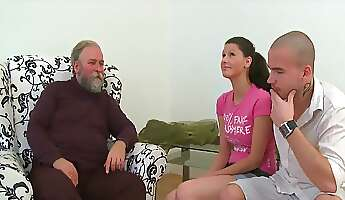 Oldyoung old guy pays to have her