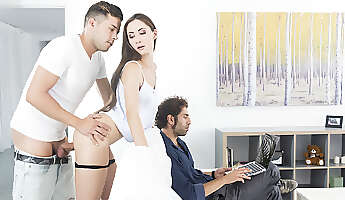 Risky Sex In Front Of Daddy  VirtualTaboo