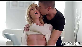 Tempting barely legal woman Minerva blowing well